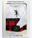 6-12 Months White Ghille Shirt Gift Pack
