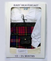 12-24 Months Toddlers White Ghille Shirt Gift Pack